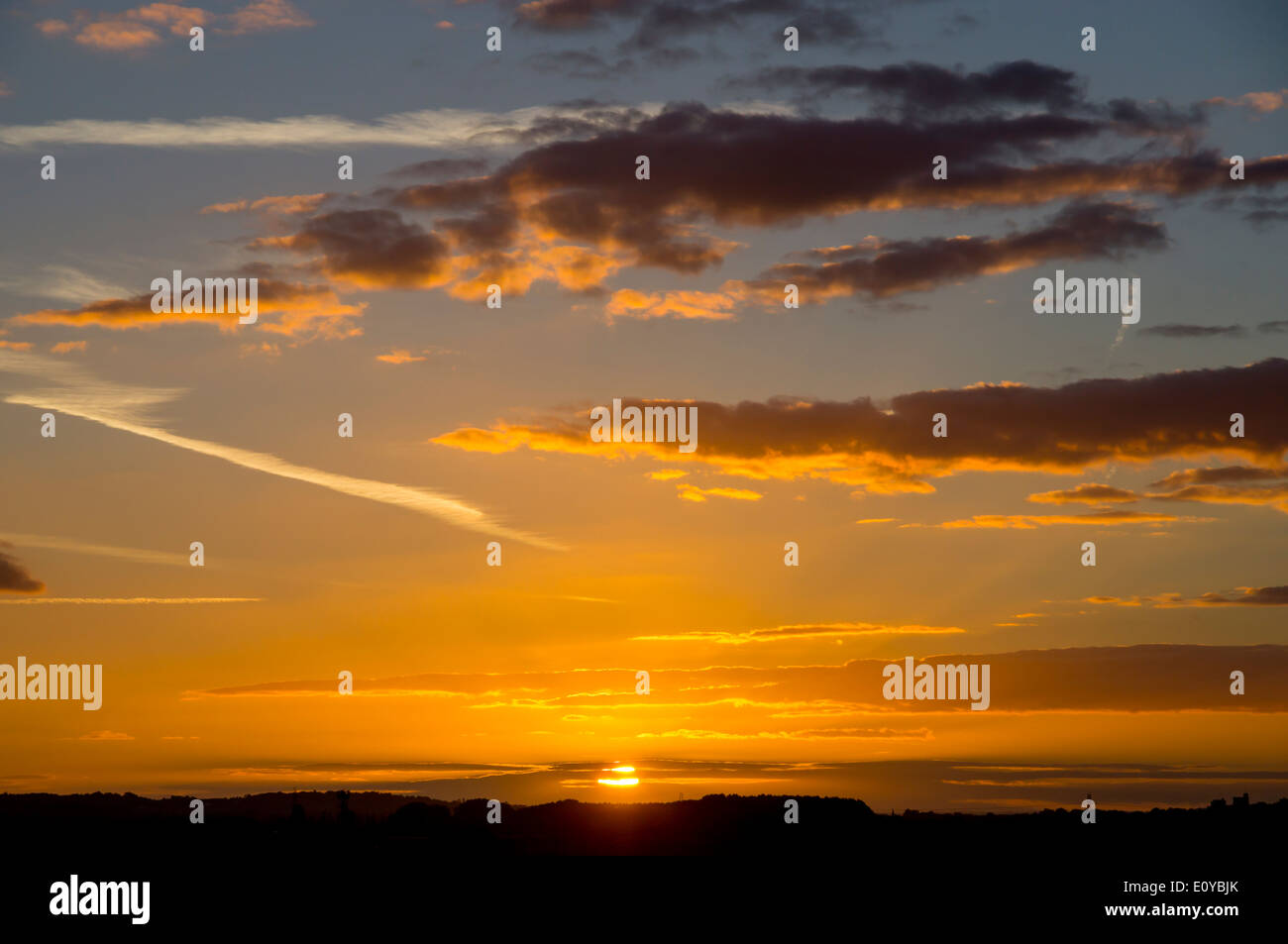 Europe, uk, sunset, uk - Stock Image