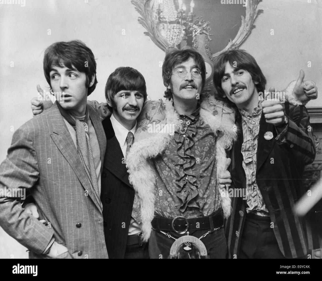Paul McCartney, Ringo Starr, John Lennon, George Harrison - Stock Image