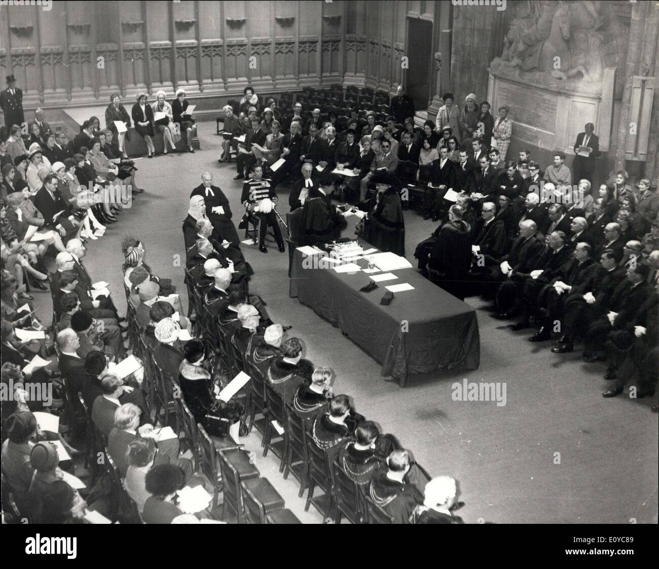 Nov. 07, 1969 - Admission Ceremony of Lord Mayor of London - Stock Image