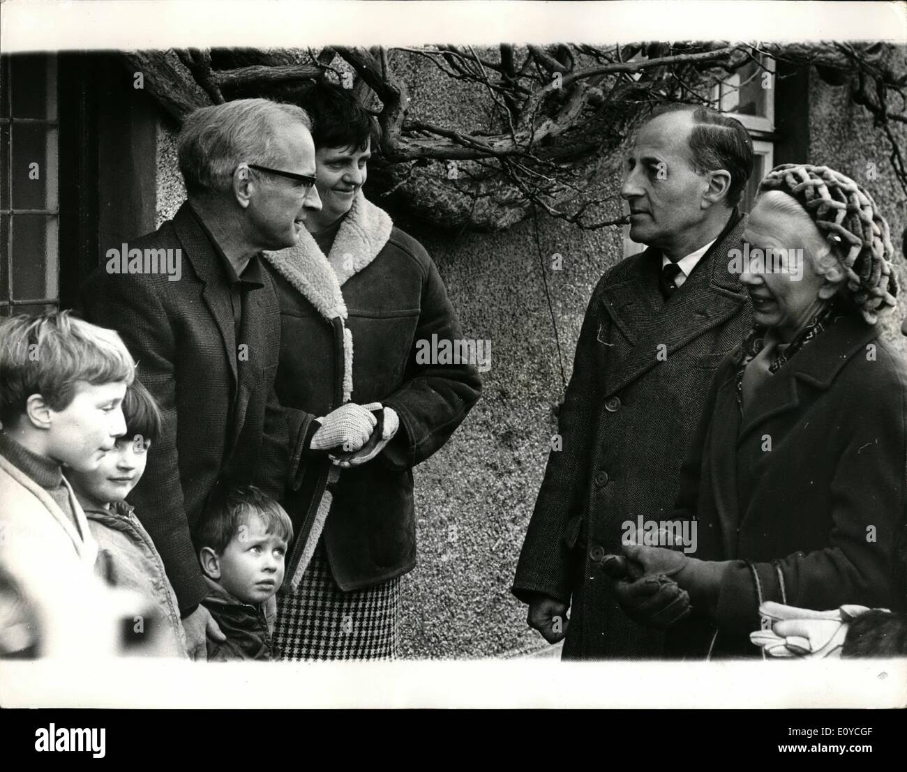 Nov. 11, 1969 - Northern Ireland Premier fights election campaign.: Captain Terence O'Neill, Prime Minister of Northern Stock Photo