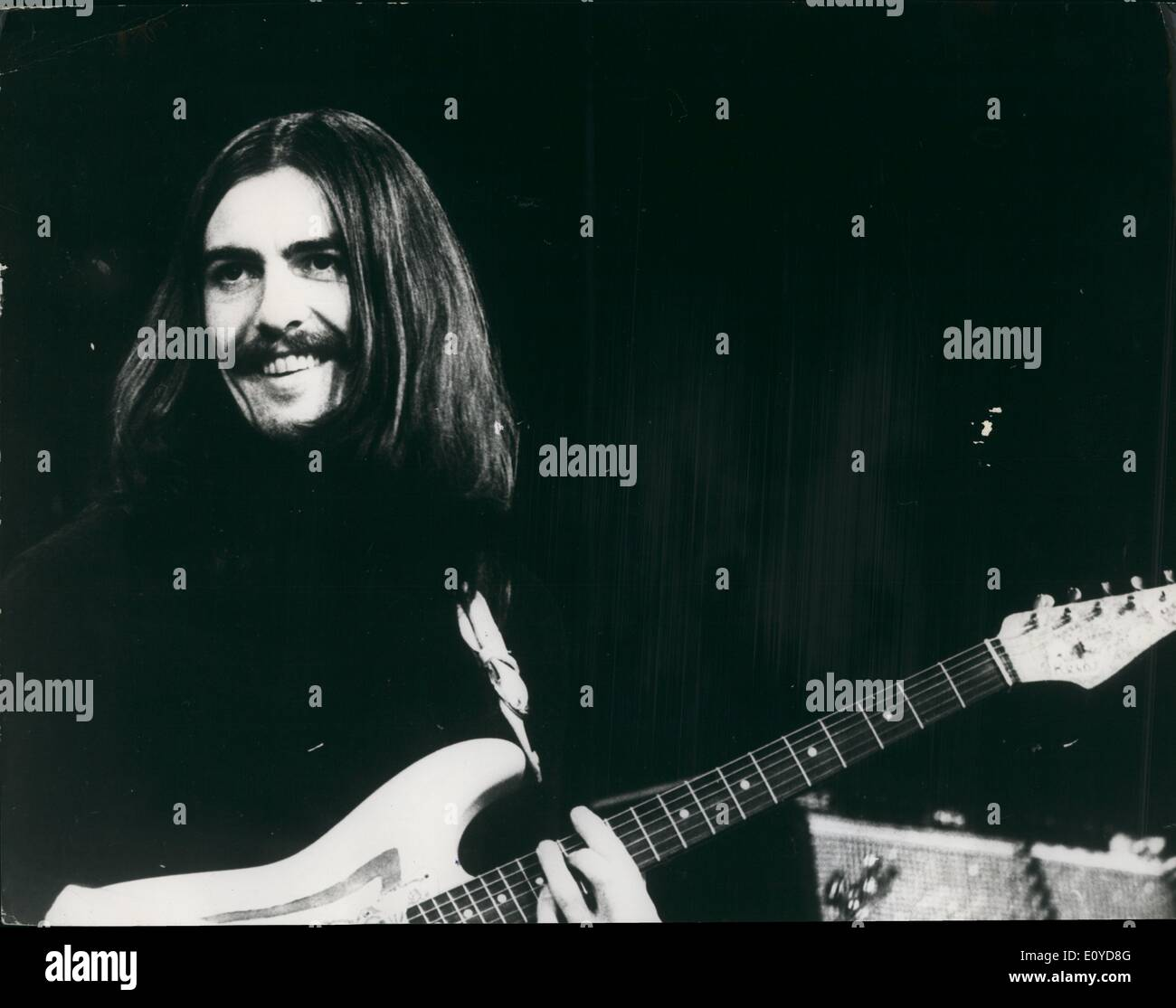 Dec. 12, 1969 - Beatle George Harrison At Copenhagen Concert: George Harrison (Beatles), Eric Clapton am/Blind Faith) last W - Stock Image