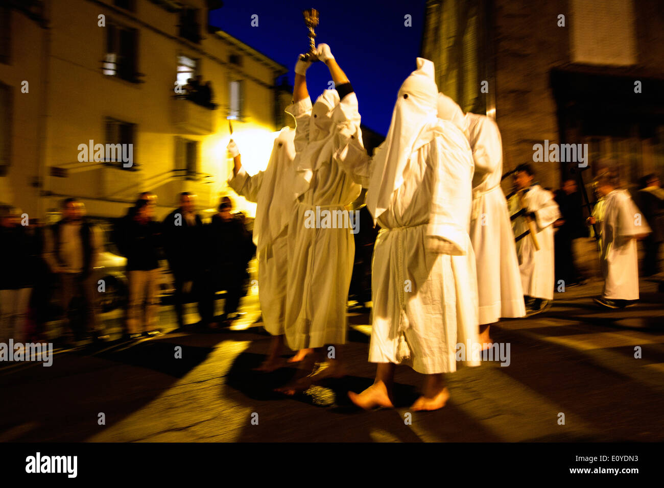 Penitents. Maundy Thursday. Saugues. Haute-Loire. Auvergne. France - Stock Image
