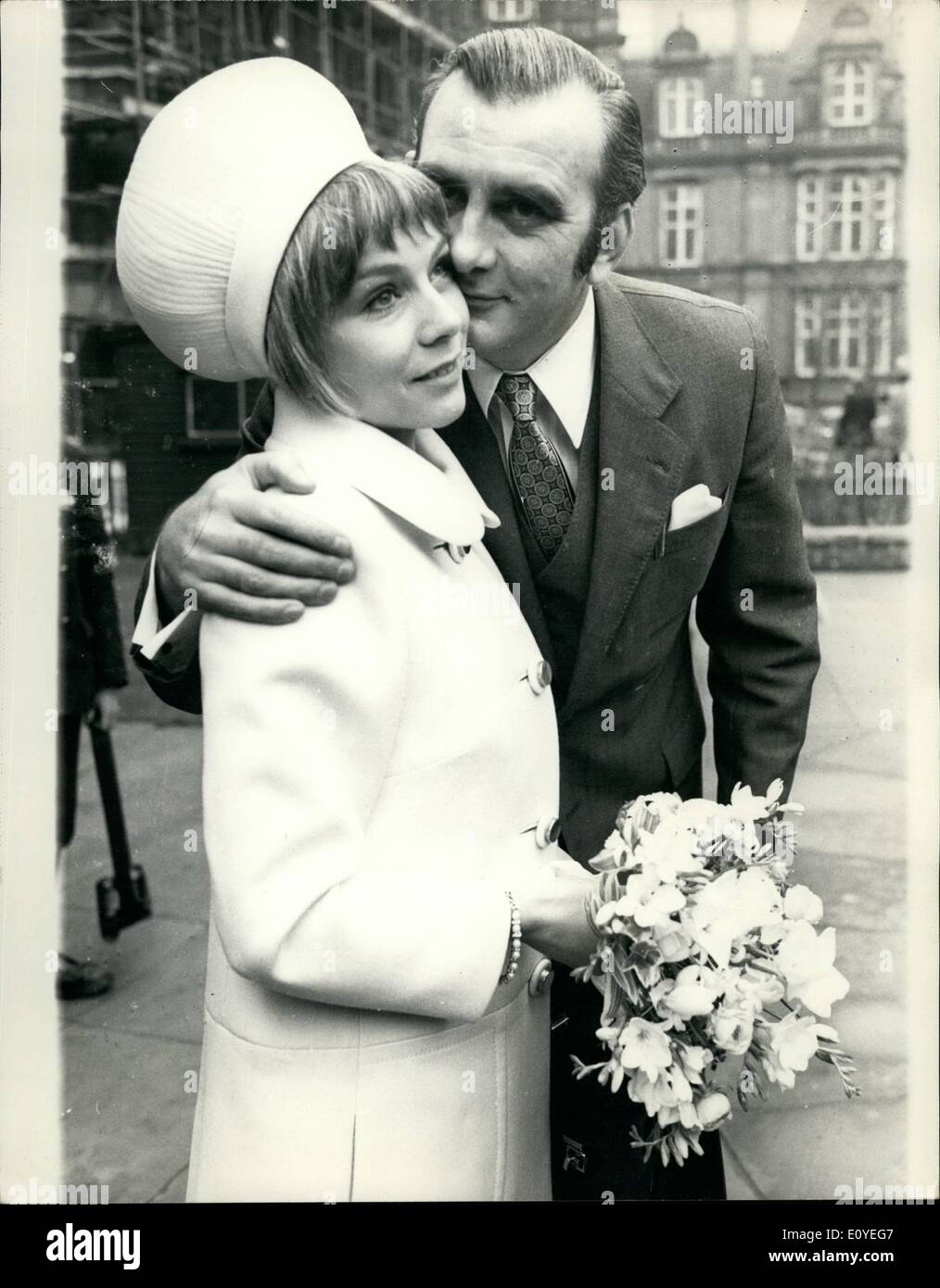 Jan. 01, 1970 - Actress Weds: The Wedding took place today at Caxton Hall between David Conville, 40, director of 'Toad of Toad - Stock Image