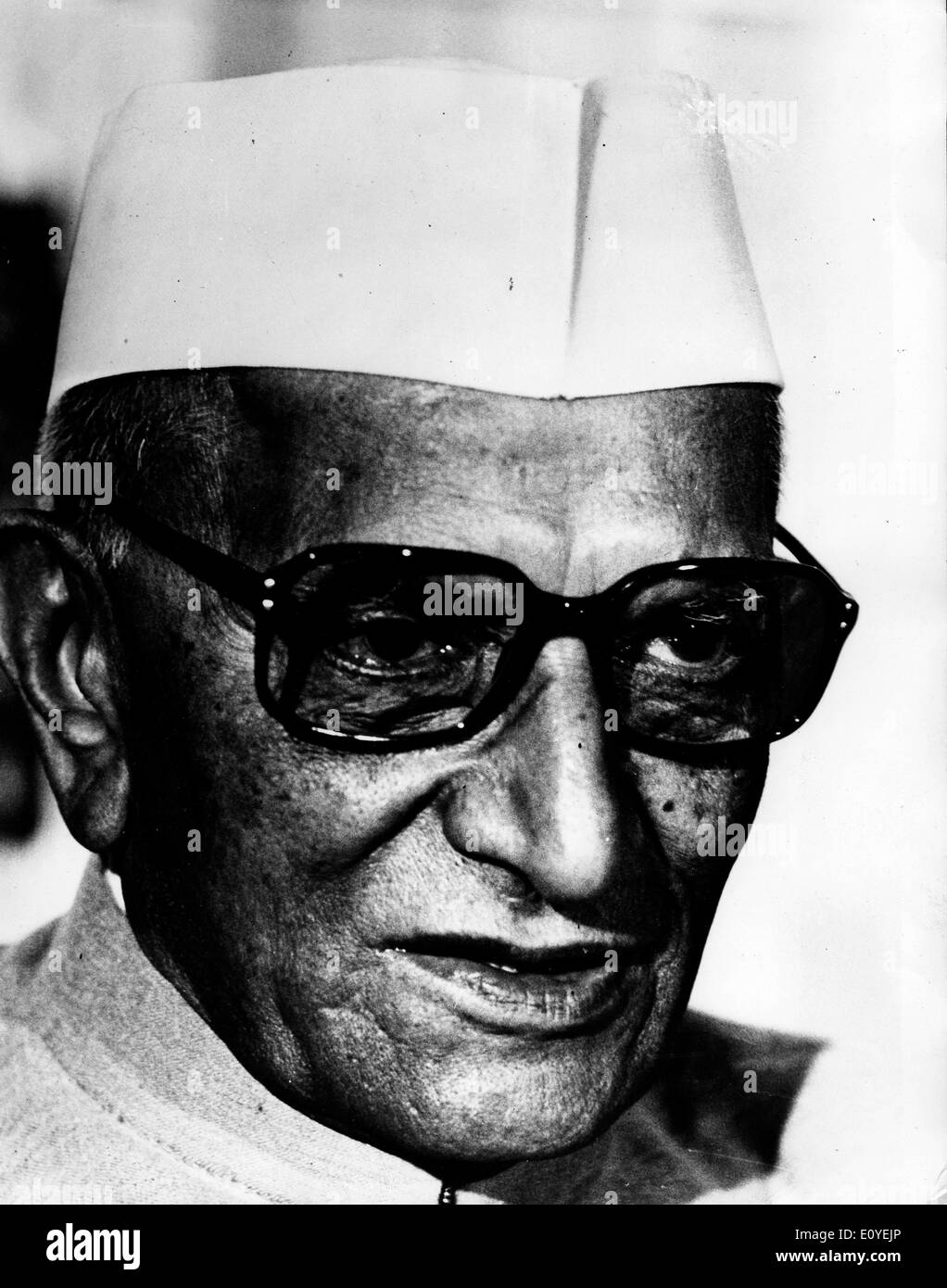 Jan. 01, 1970 - File Photo: circa 1970s, location unknown. MORARJI RANCHHODJI DESAI (29 February 1896 Ð 10 April 1995) was an Indian independence activist and the Prime Minister of India from 1977-79. He was the first Indian Prime Minister who did not belong to the Indian National Congress. He is the only Indian to receive the highest civilian awards from both India and Pakistan, the Bharat Ratna and Nishaan-e-Pakistan. - Stock Image