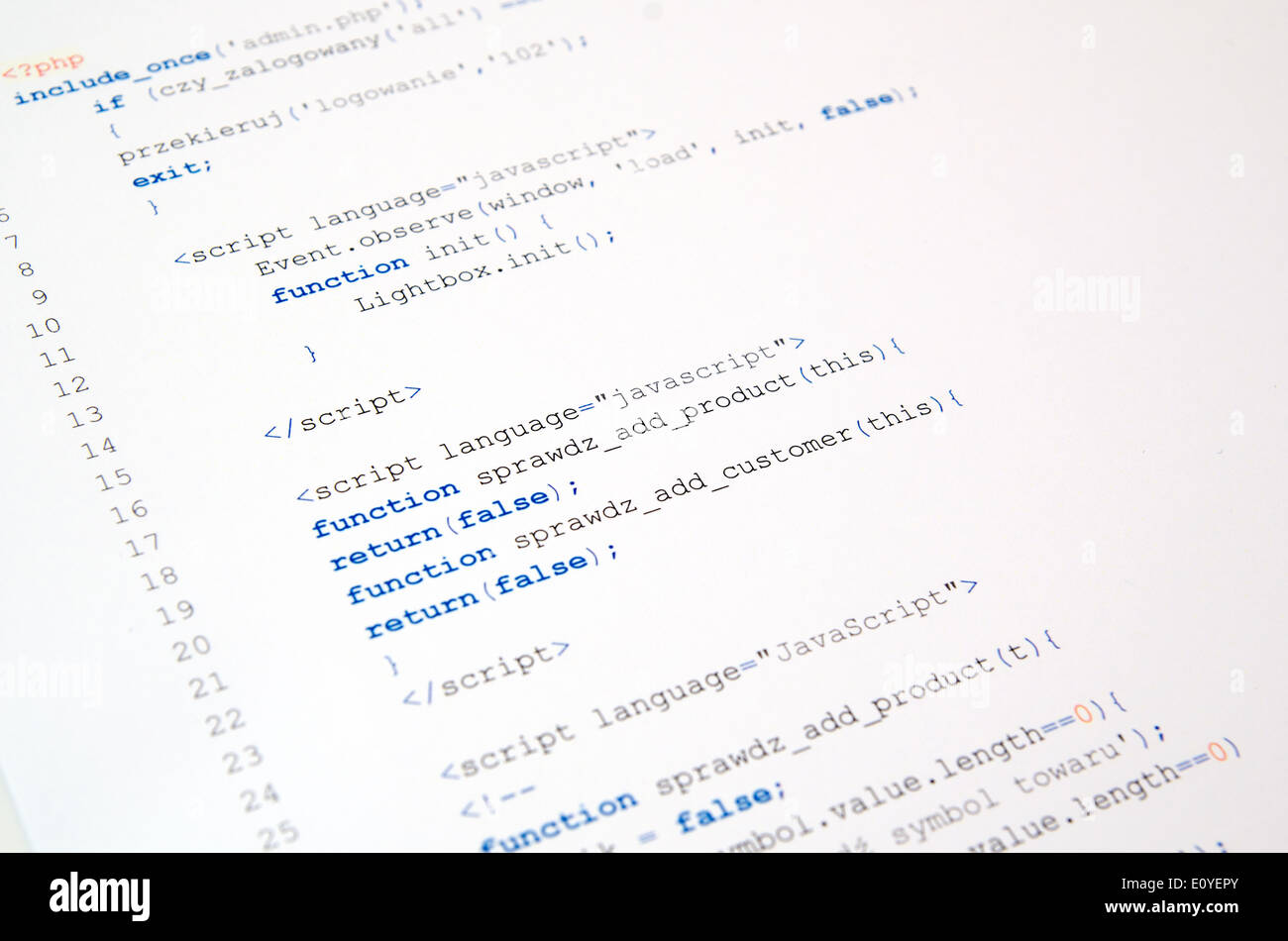 Javascript Language Stock Photos & Javascript Language Stock