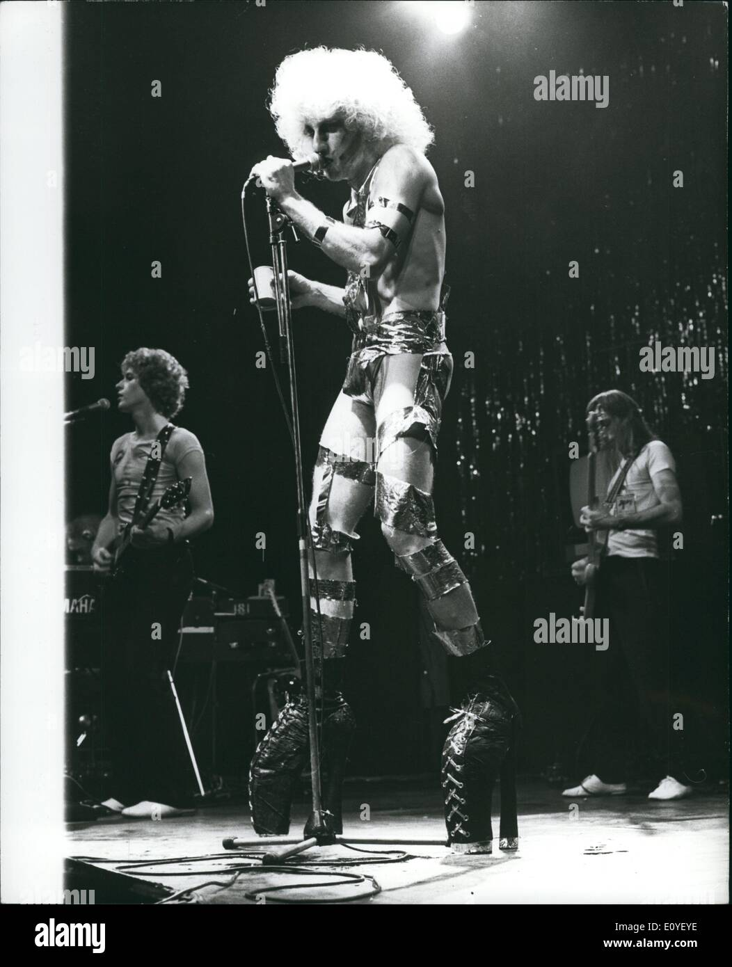 Jan. 1, 1970 - American Rock Band ''Tubes'' in concert at Hammersmith Odeon : ''Tubes'', second to none in the New Wave sounds, - Stock Image