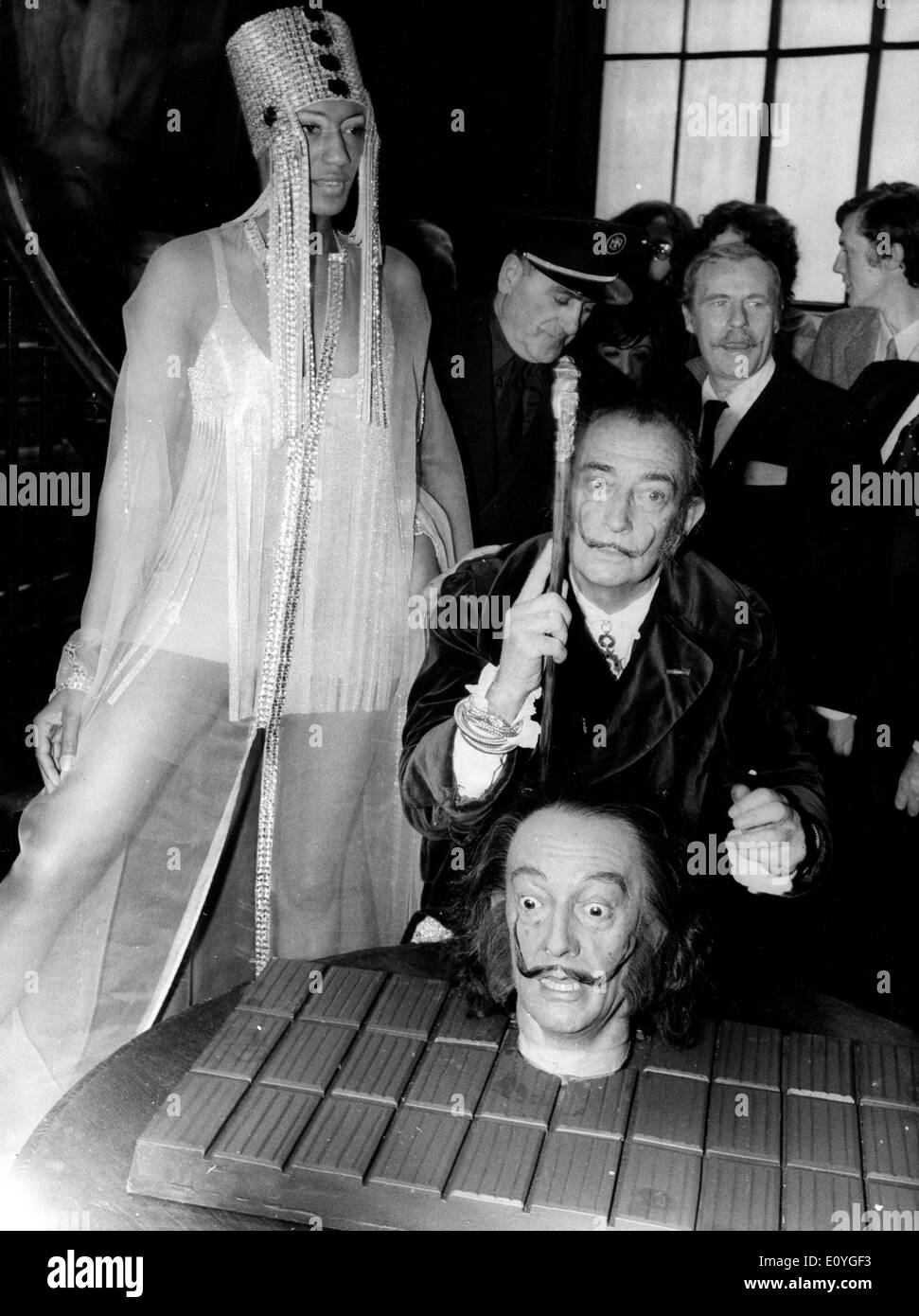 Artist Salvador Dali at an art conference - Stock Image