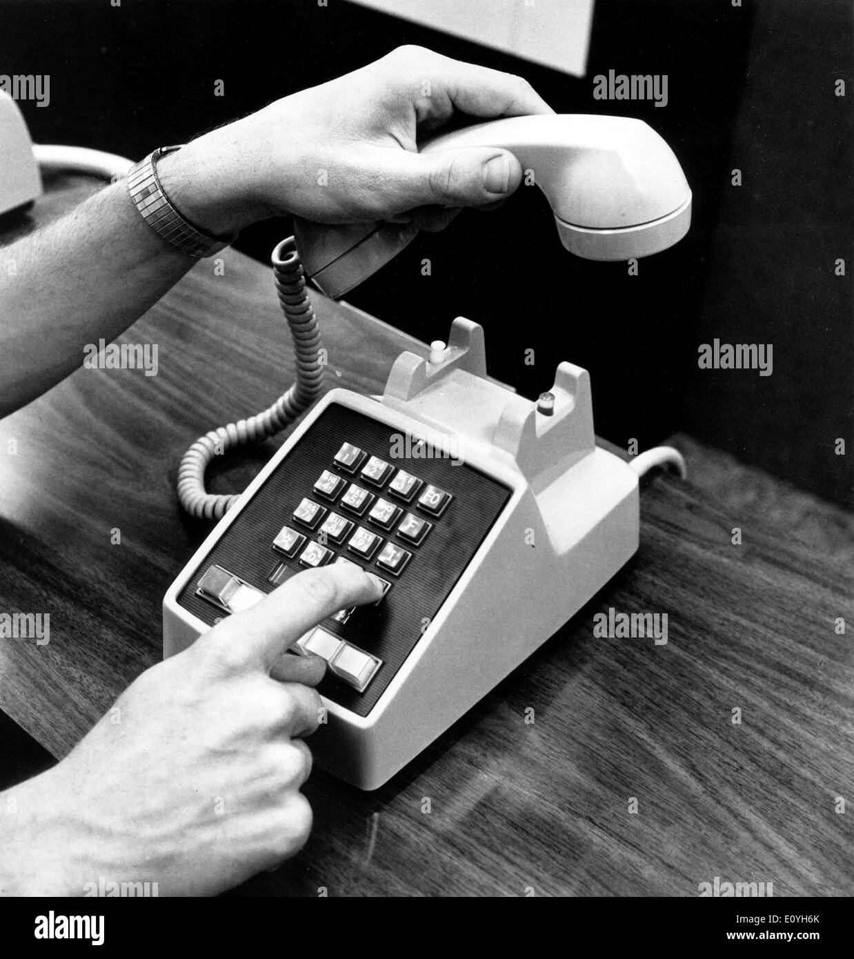 Military version of Touch Tone telephone - Stock Image