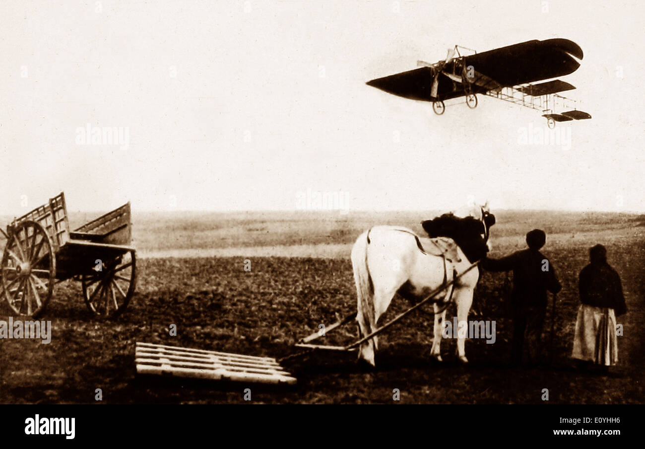 Louis Bleriot flight from Toury to Artenay on 31st October 1908 - Stock Image