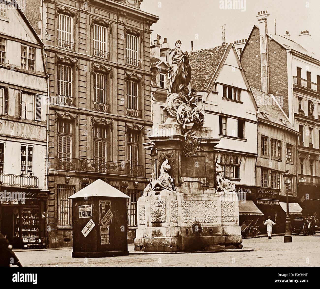 Joan of Arc Statue Rouen France pre-1900 - Stock Image