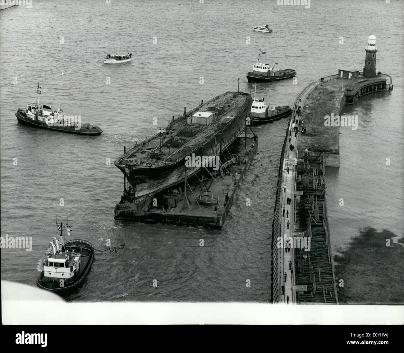 Jun. 06, 1970 - ''Great Britain'' Arrives Home After 8,000 Mile Sea Tow from the Falkland Islands. - Stock Image