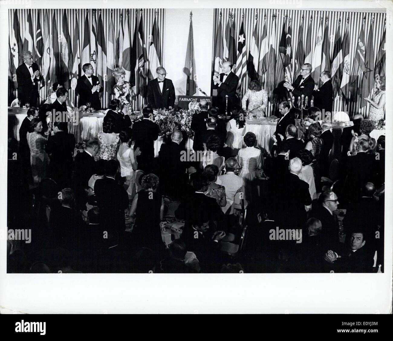 Jun. 26, 1970 - Ceremonies In San Francisco Mark Signing 25 Years Ago Of United Nations Charter: United Nations delegates on 26 - Stock Image