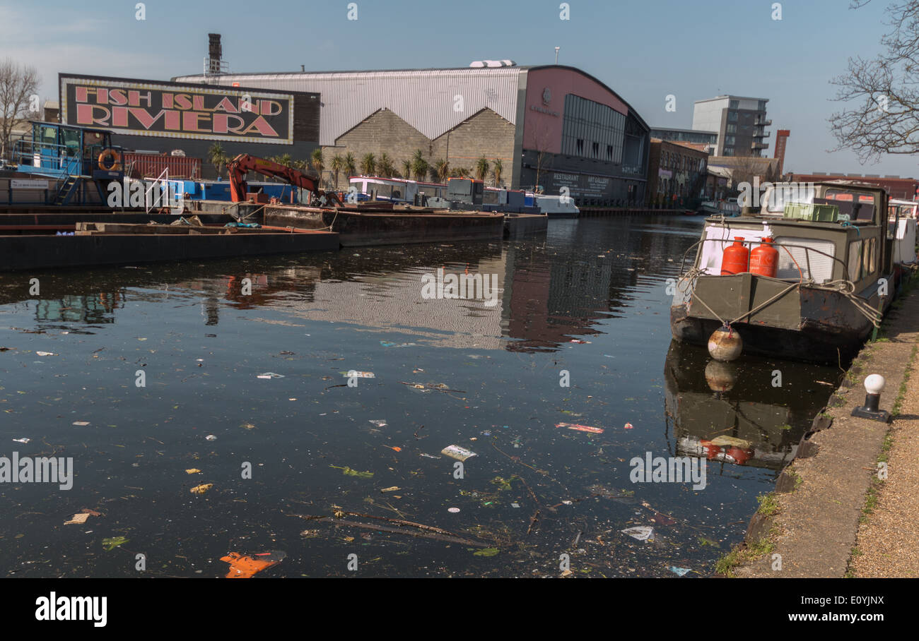 Fish Island Rivera along the river Lee - Stock Image