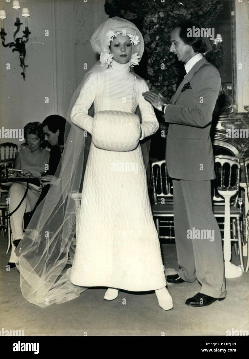 Jul. 23, 1970 - Model in Christian Dior Wedding Gown by Marc Bohan ...