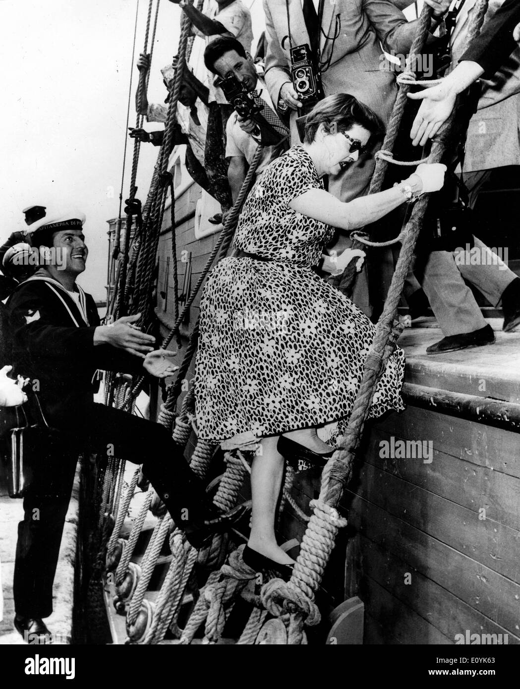 Actress Bette Davis films 'Jack Paul Jones' - Stock Image