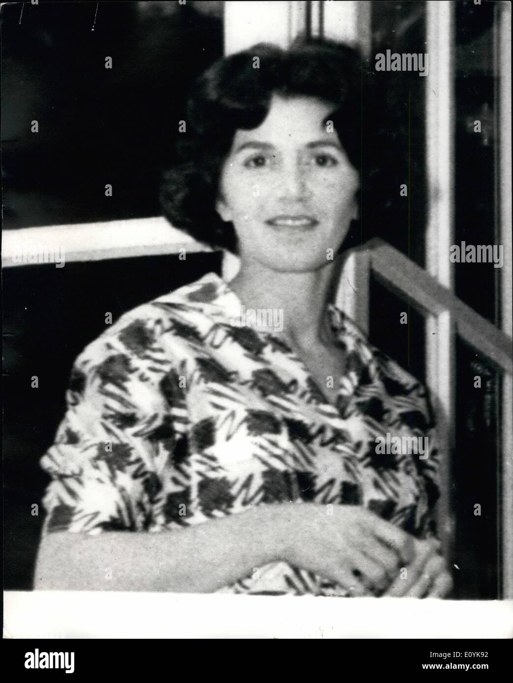 Aug. 08, 1970 - Niarchos Accused of Wife's Death. Prosecutor's ''Fatal Injury'' Claim. Stavros Niarchos, the Greek shipping magnate, was accused last night of fatally injuring his wife, Eugenie, 42, who died on his private island, Spetsopoula, on May 4. The accusation was announced by the public prosecutor in Piraeus, who has recommended that Mr. Niarchos be committees for trial. After Mrs. Niarchos' death, a burial permit issues by the Athens mortuary said she had died from an overdose of barbiturates. A post mortem examination later revealed marks of injuries on the body. Mr - Stock Image