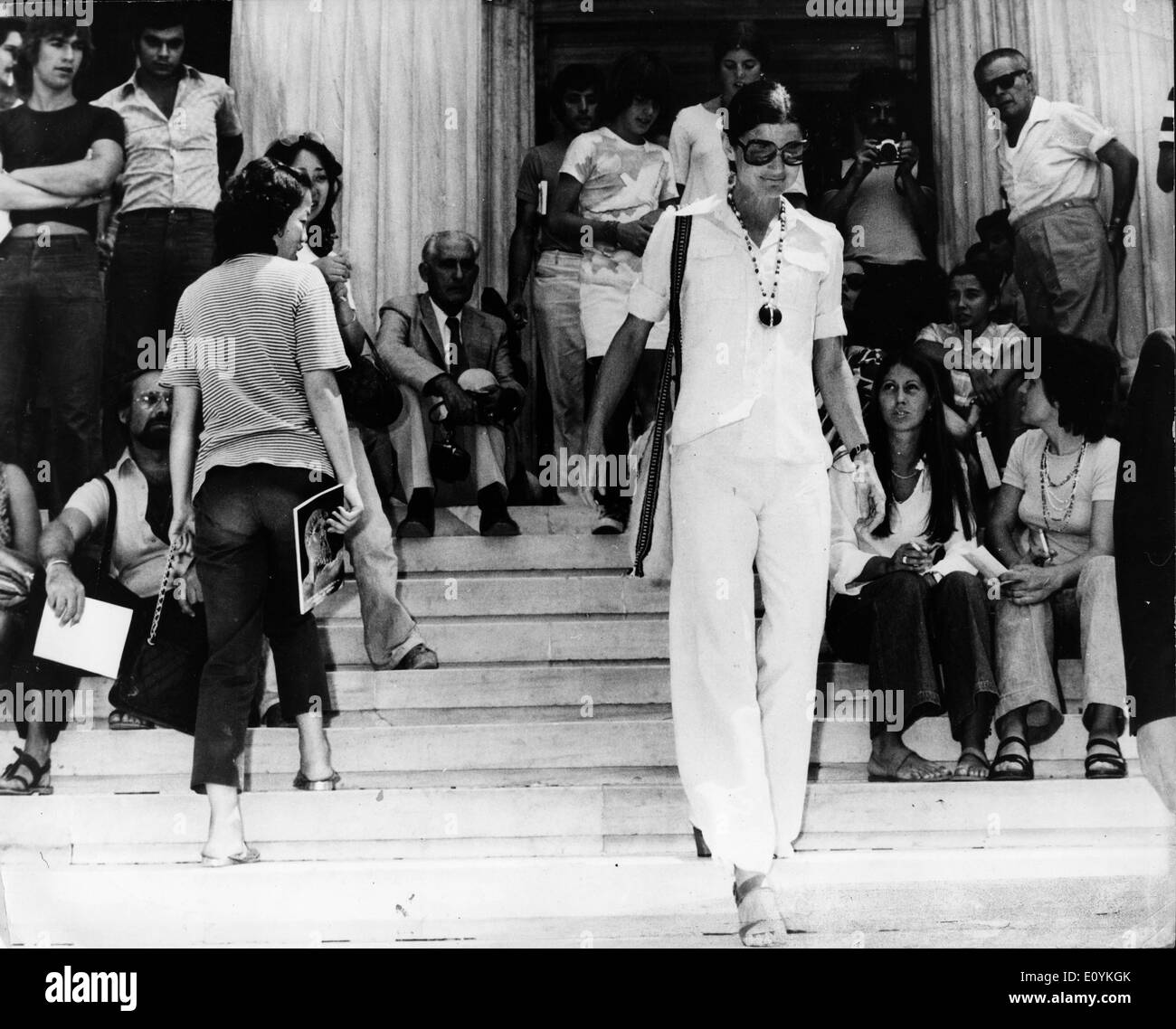 First Lady Jackie Kennedy Onassis sight sees in Greece - Stock Image