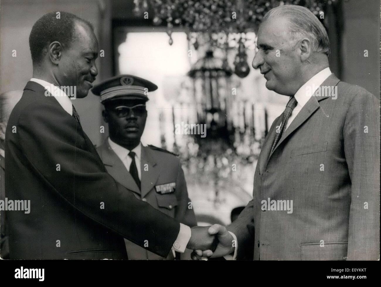 Aug. 27, 1970 - Tombalbaye is the President of Tchad. - Stock Image