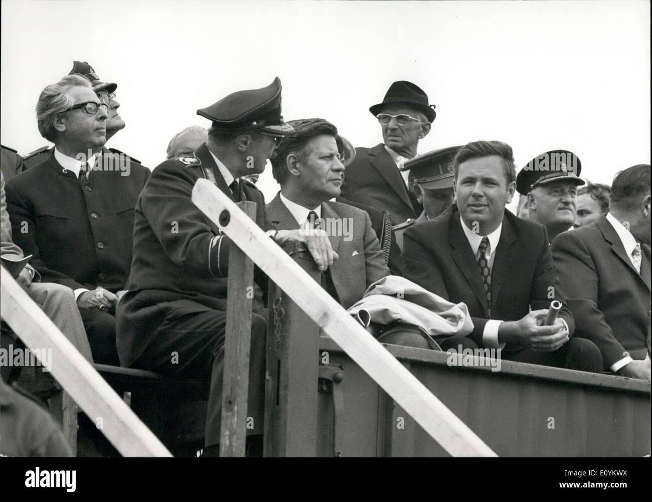 Sep. 09, 1970 - ''Black Sky'' Watching the maneuver - General Johannes Steinhoff (left) and West Germany's Minister of Defense, - Stock Image