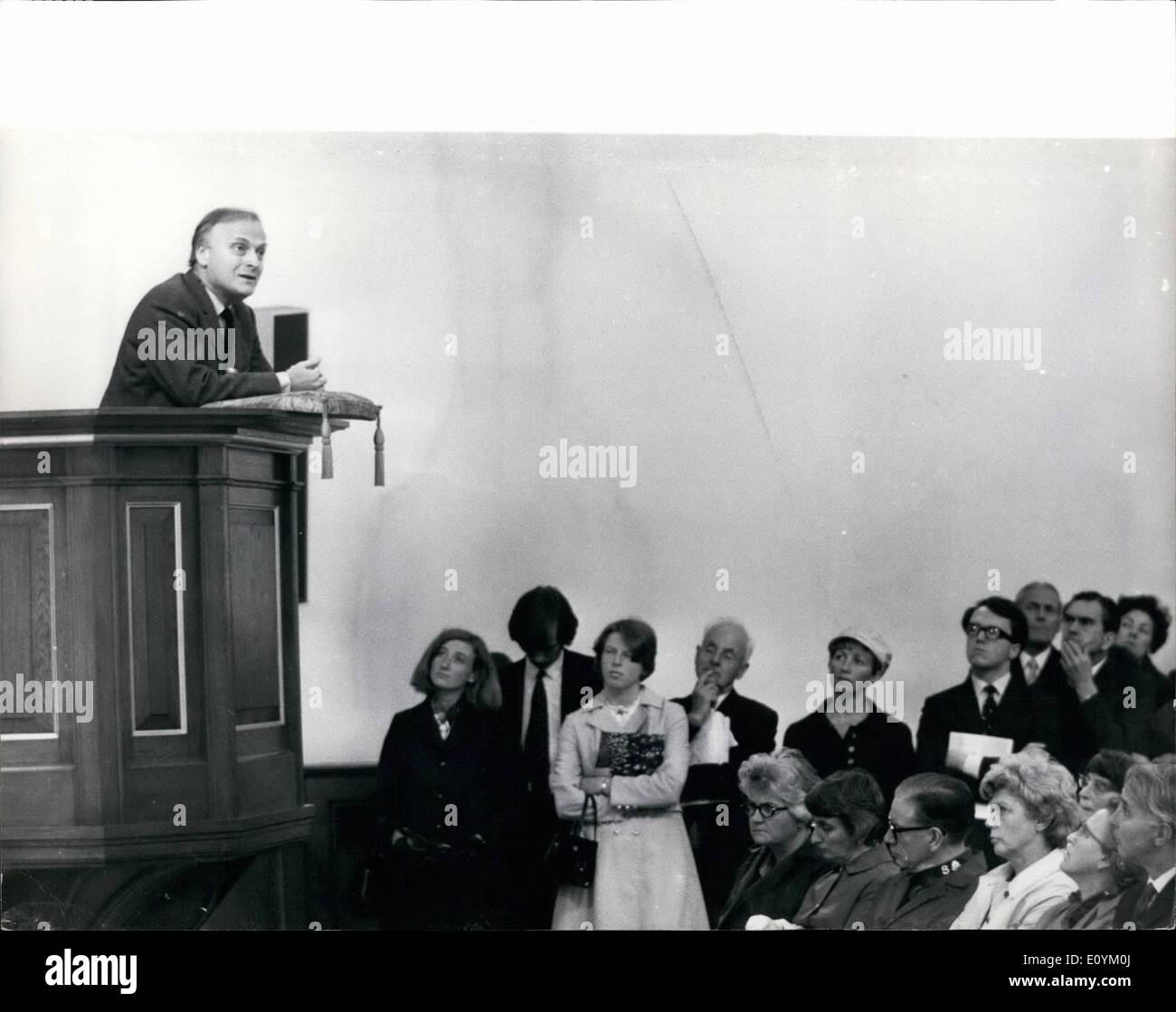 Sep. 09, 1970 - Yehudi Menuhin in lunchtime dialogue.; Yehudi Menuhin, the violinist, took part today in the first Stock Photo