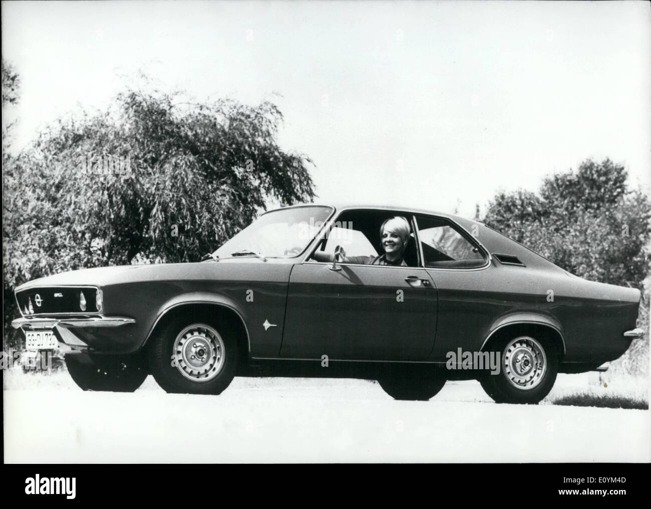 Sep. 09, 1970 - The Opel Manta... ...represents a completely new car class within the gales program of the Russelsheim company. - Stock Image