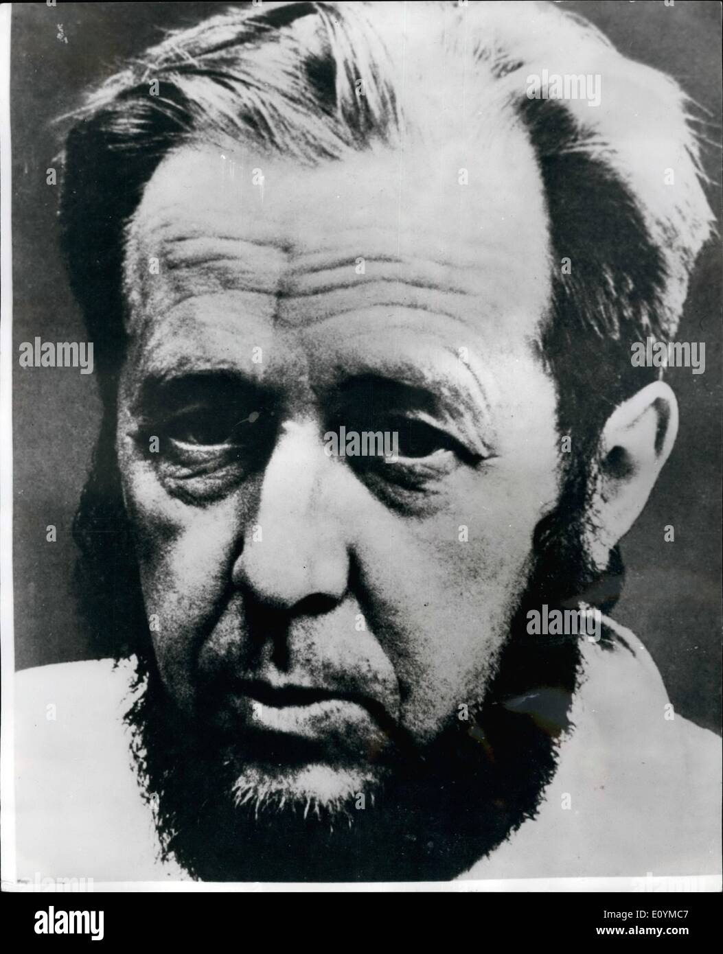 Oct. 08, 1970 - October 8th - 1970 . Rebel Russian author is awarded the 1970 Nobel Prize in Literature . The Swedish Academy awarded the 1970 Nobel Prize in the Literature yesterday to the 51 year old rebel Russian writer Alexander Solzhenitysn , author of ''Cancer Ward'' , ''The First Circle'' and ''One Day in the life of Ivan Denisovich''. The prize of ?32, 000 was given ''for the ethical force with which he has puraued the indispensable tradition of Russian literature ''. Photo shows Alexander Solzhenitsyn awarded the 1970 Nobel Prize in literature. - Stock Image