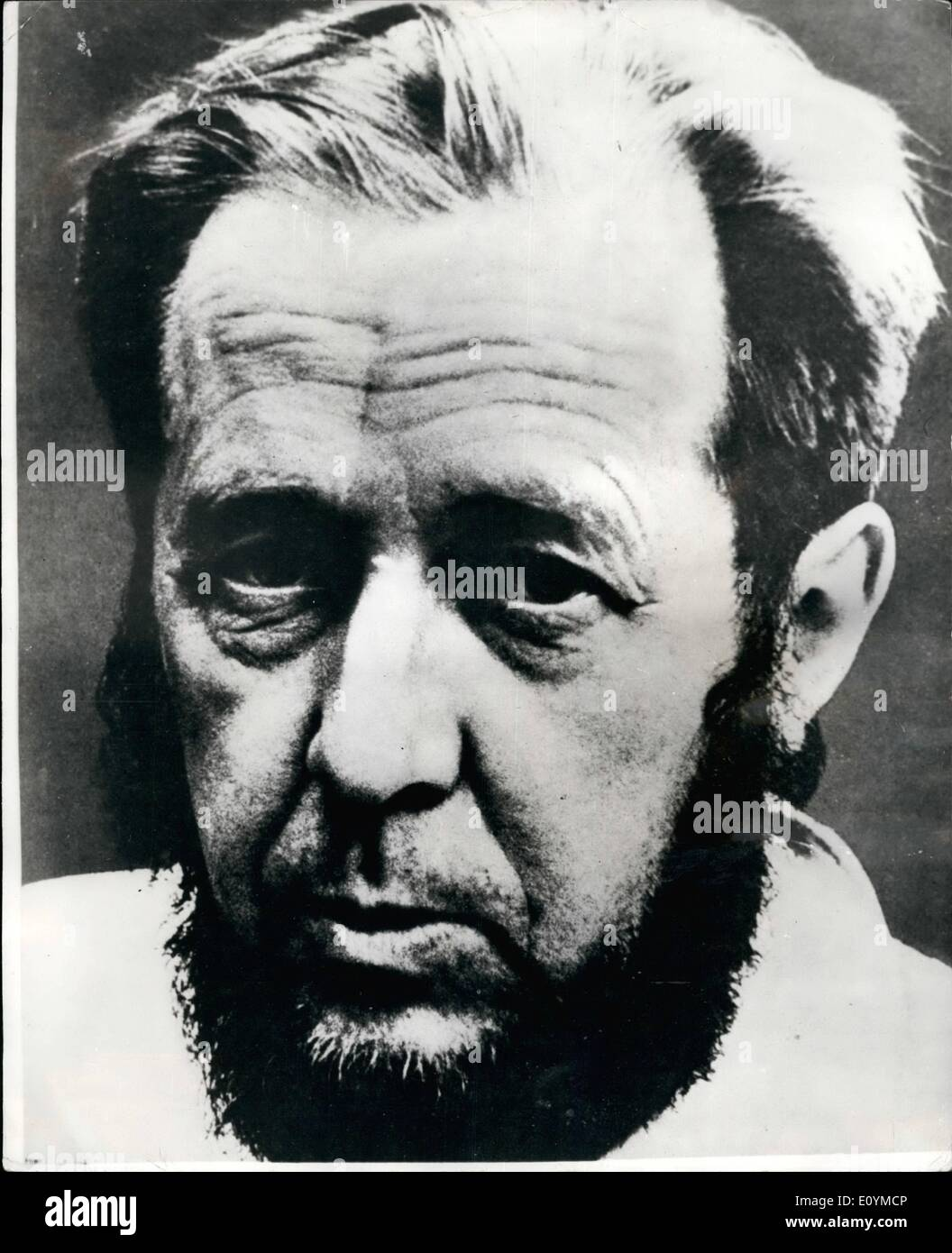 Oct. 09, 1970 - October 9th - 1980 Rebel Russian Author is awarded the 1970 Nobel prize in literature. The Swedish Academy awarded the 1970 Nobel Prize in Literature yesterday to the 51 - year old rebel Russian writer Alexander Solzhenitysyn , author of ''Cancer Ward'', ''The First Circle'' and ''One day in the life of Ivan Denisovich'' . The prize of ?32,000 was given ''for the ethical force with which he has pursued the ethical force with which he has pursued the indispensable traditional of Russian literature. Photo shows Alexander Solzhenitsyn awarded the 1970 Nobel prize in Literature - Stock Image