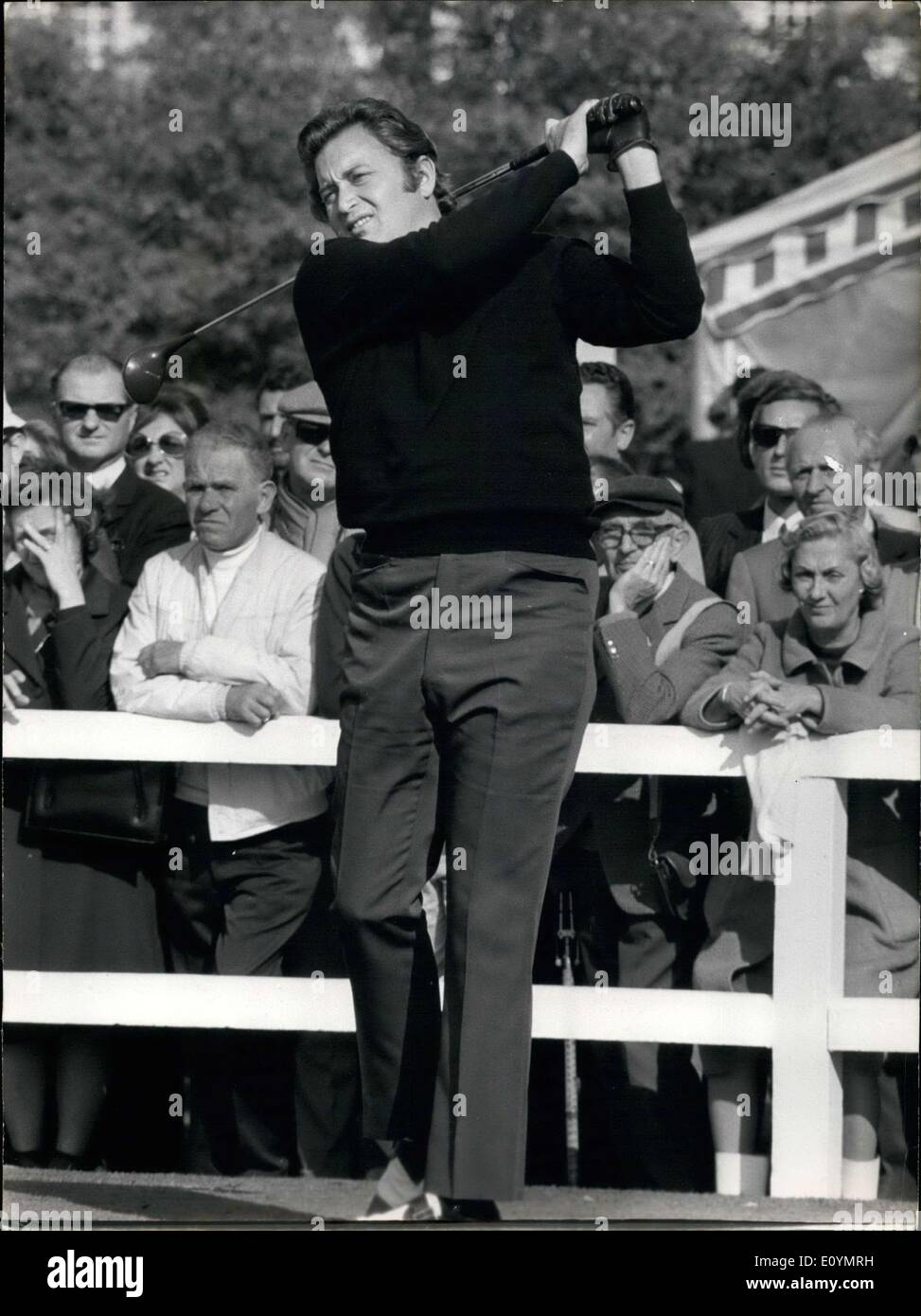 Oct. 17, 1970 - Raymond Floyd Playing in the Tournament of Champions - Stock Image