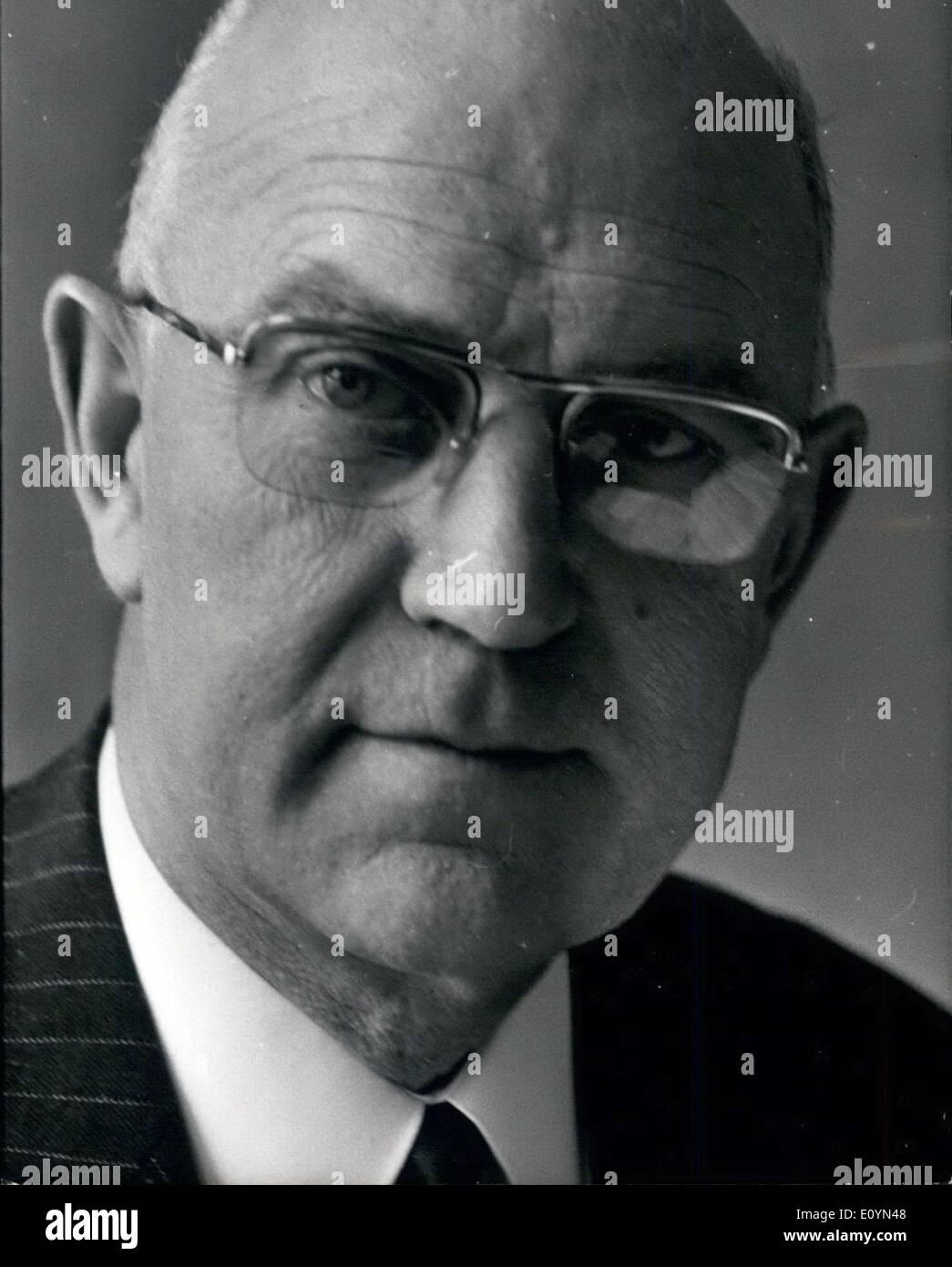 Nov. 11, 1970 - Mr Philippe Olmer, director of Natl Inst Agronomique in Paris ESS.c - Stock Image