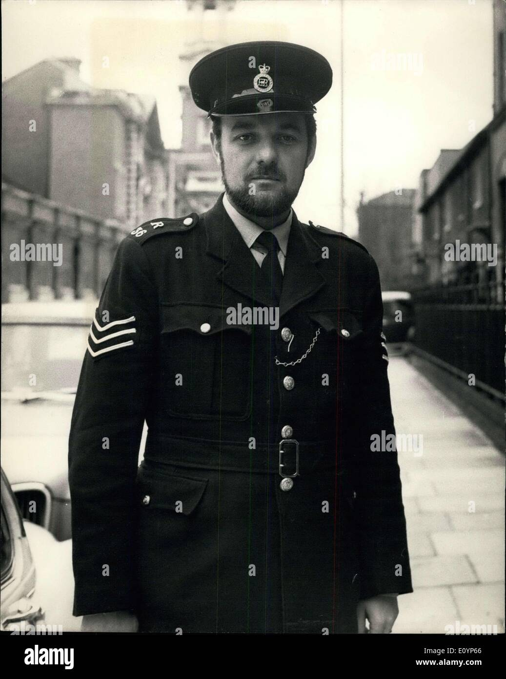 Jan. 18, 1971 - Police Sergeant is also a reversed: Sergeant Barry Wright of Woolwich Police Station has earned - Stock Image