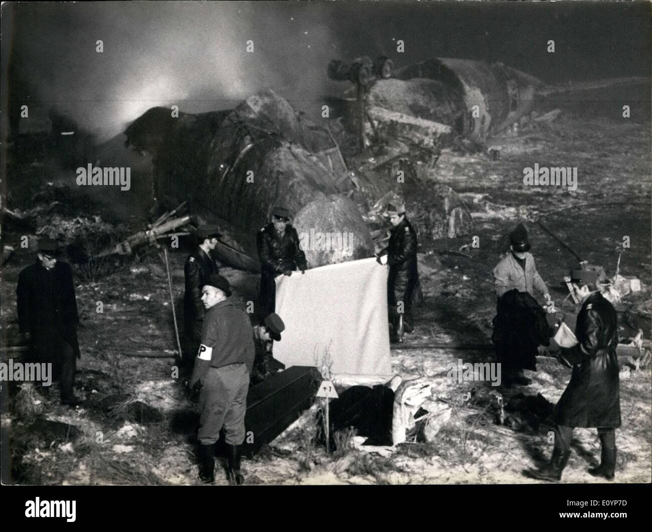 Jan. 20, 1971 - 37 people were on board and 35 died. - Stock Image
