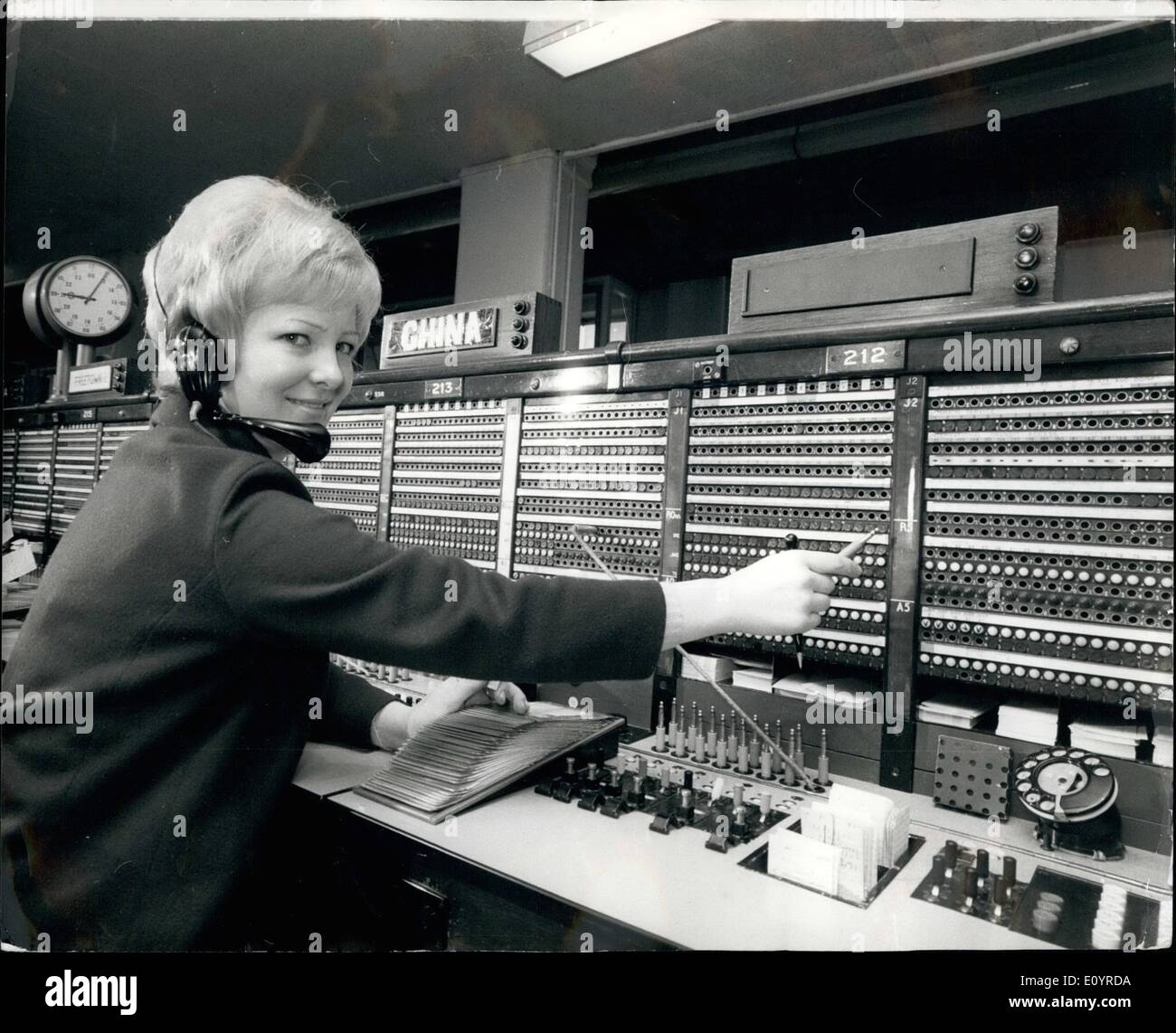 Historical Telephone Exchange Stock Photos & Historical