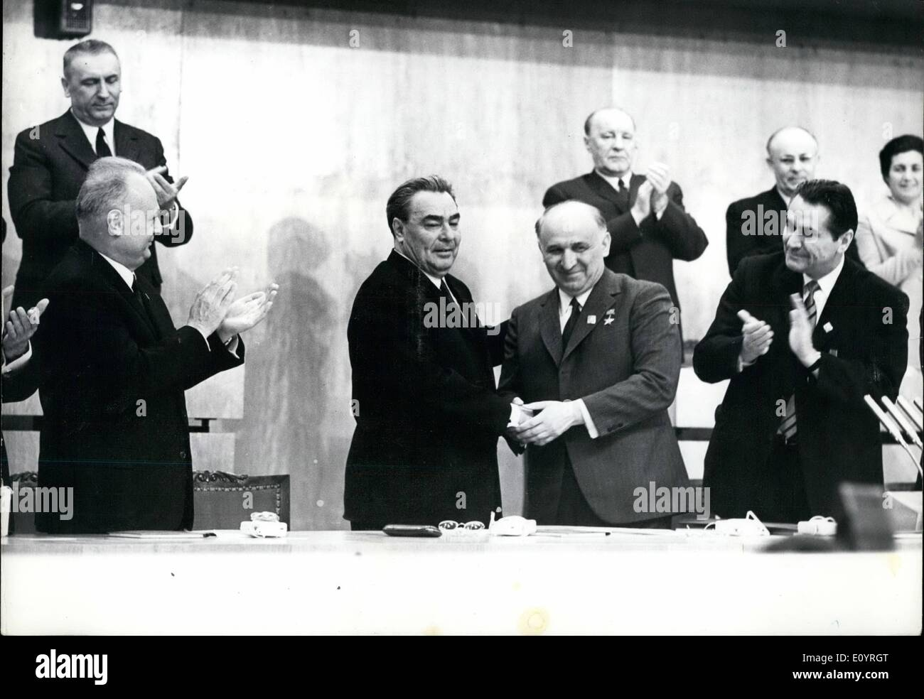 Apr. 04, 1971 - 10th Congress of the Bulgarian Communist Party: Leonid Brezhnev. Setary General of the CC of the CPSU and Tod - Stock Image
