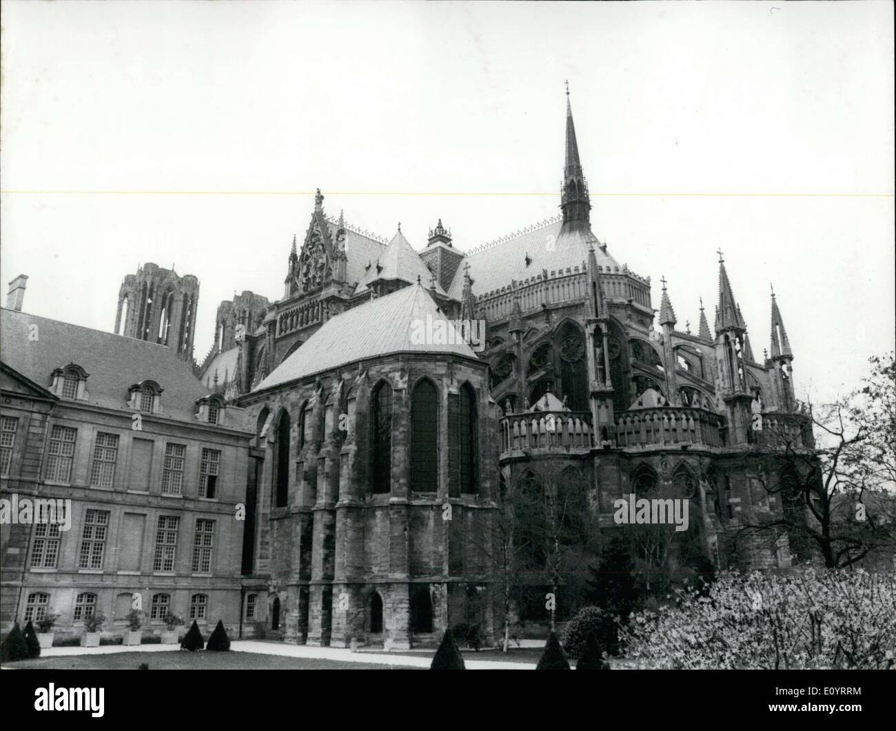 Apr. 20, 1971 - Reims Cathedral - Stock Image