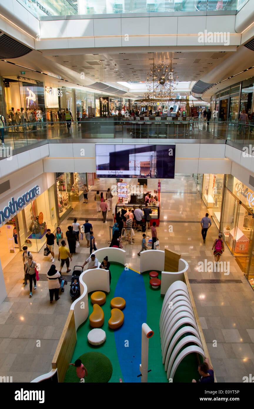 UK, England, London, Stratford Westfield shopping center interior Stock Photo