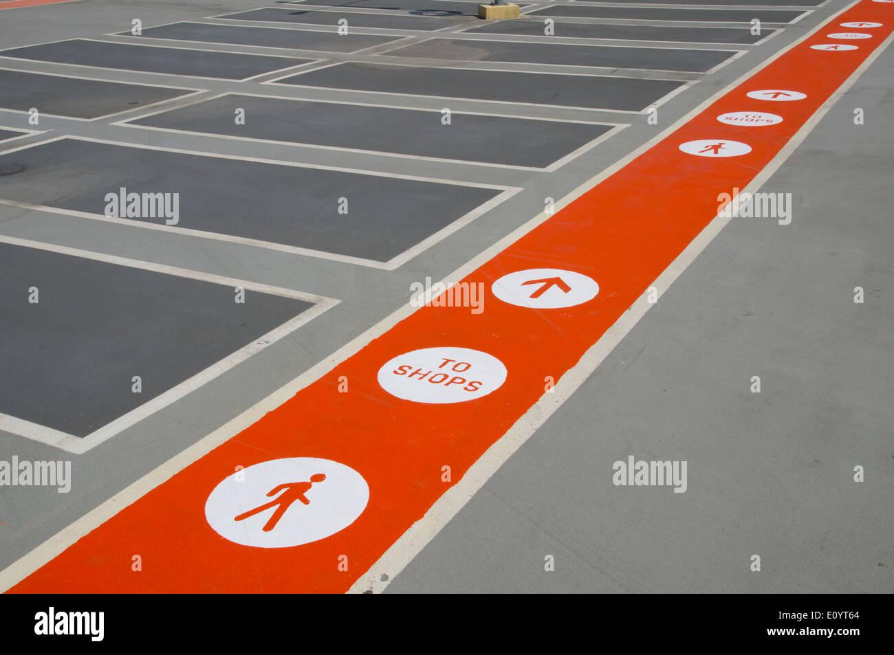 UK, England, London, Stratford multistorey parking - Stock Image