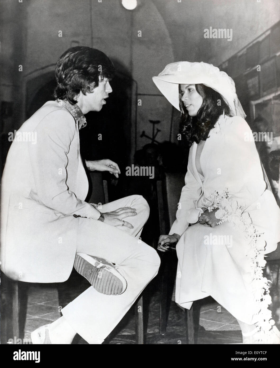 Singer Mick Jagger marries Bianca Jagger - Stock Image
