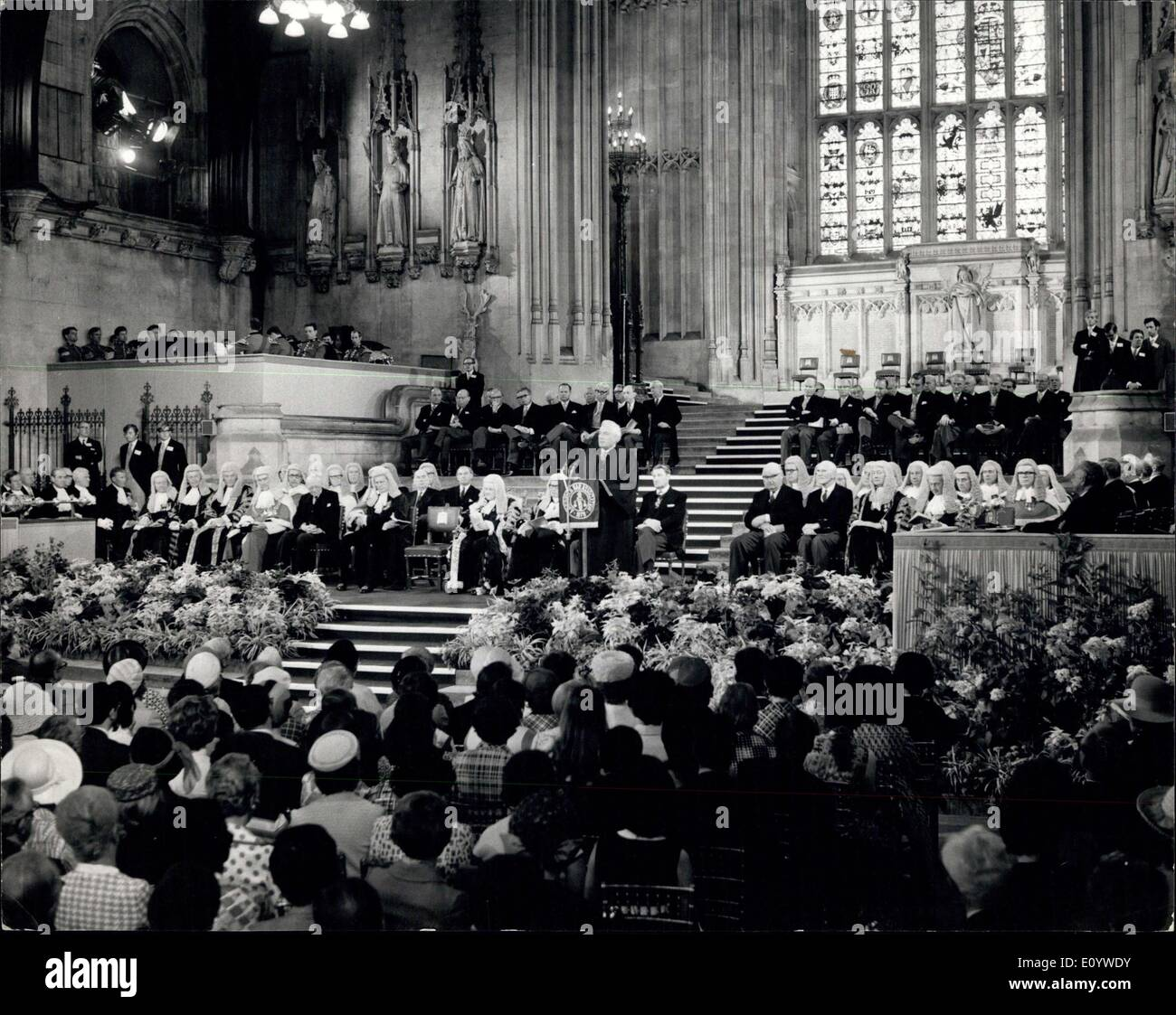 Jul. 14, 1971 - American Bar Association Inaugural Assembly at Westminster Hall.: More than 5,000 American Lawyers, Judges, and - Stock Image