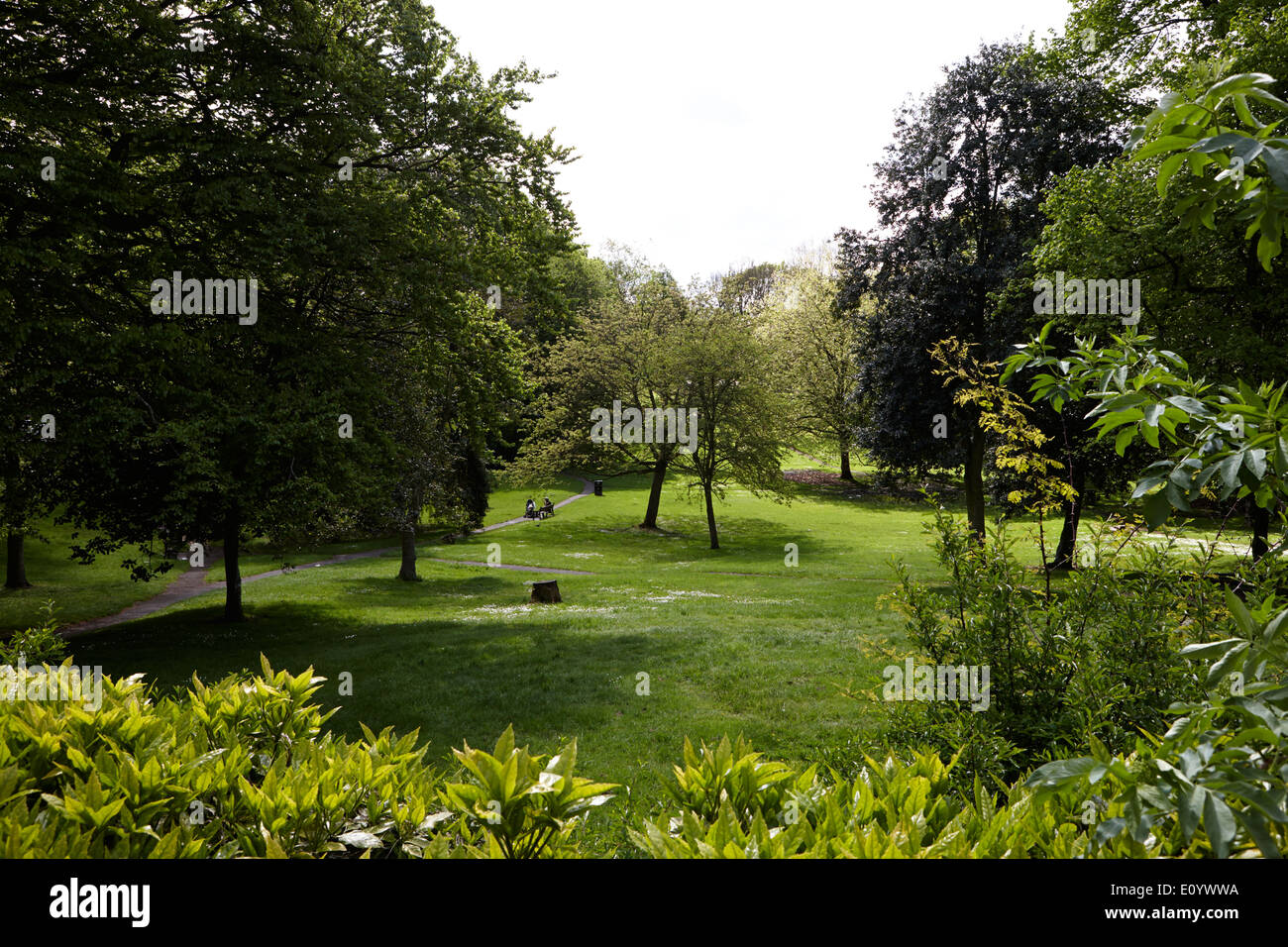 open park in Winckley square georgian town planning Preston Lancashire UK - Stock Image