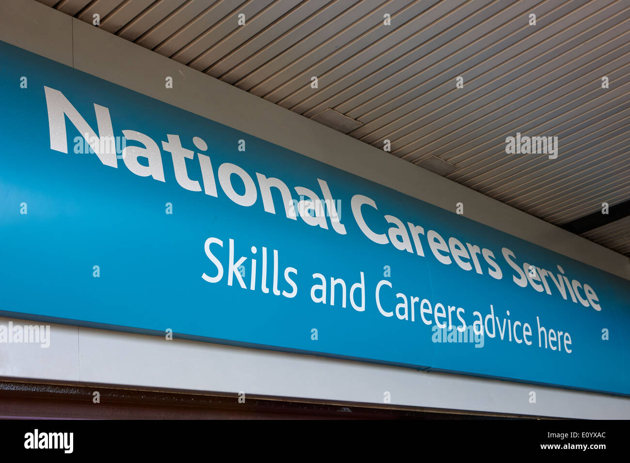 national careers service office Kirkby town centre Merseyside UK - Stock Image