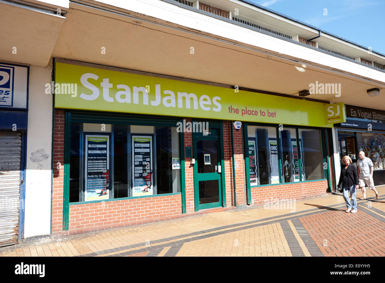 stan james bookmakers office Kirkby town centre Merseyside UK - Stock Image