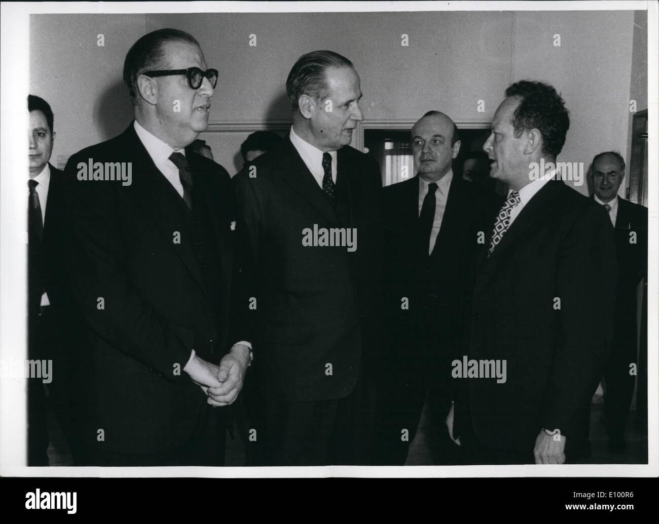 Feb. 02, 1972 - A. Evan + Dr. Yarring + Tekoa + Alon + Tervsal - Stock Image