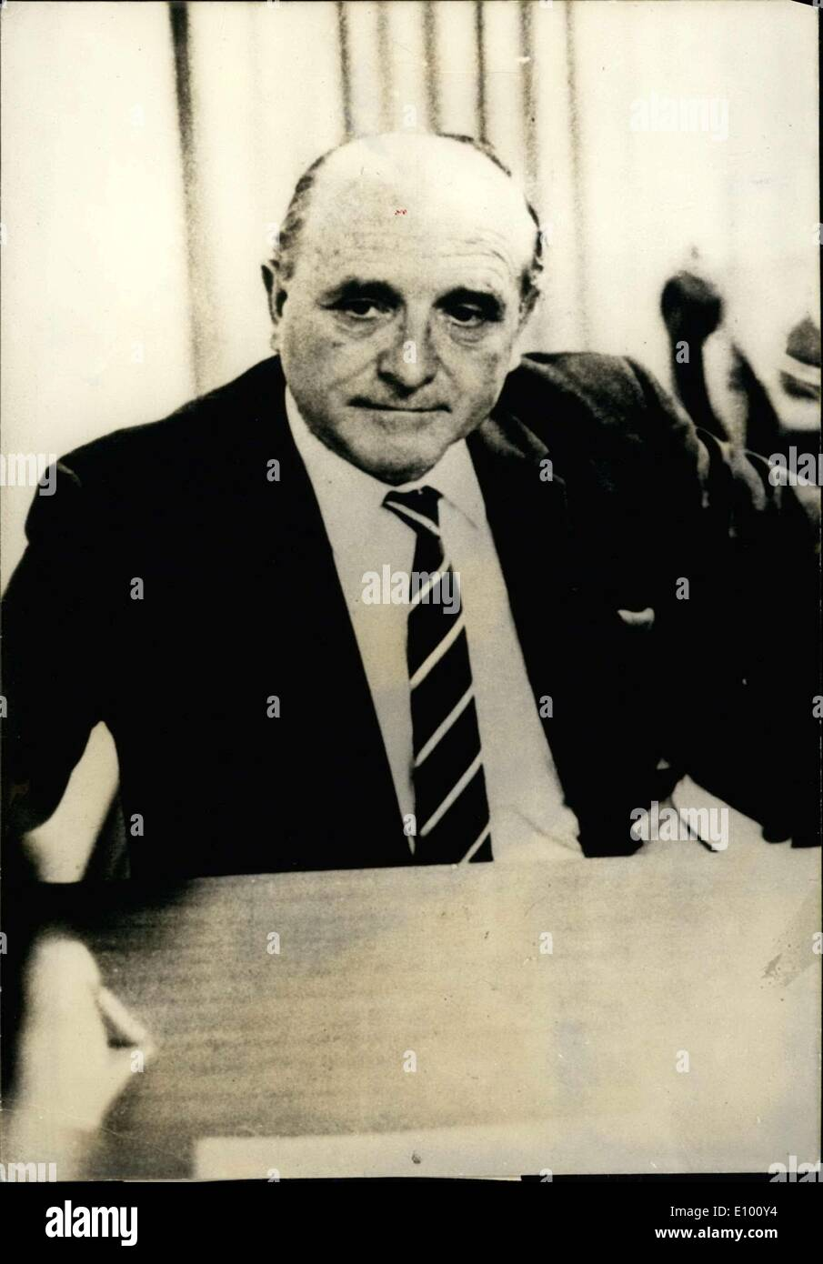 Feb. 05, 1972 - Anthropological experts arrived at the conclusion that the former Nazi, Klaus Barbie (now Altmann) is the Butcher of Lyon. Klaus Barbie was the head of the Lyon Gestapo, and he is responsible for the torture and death of French Resistance leader Jean Moulin. - Stock Image
