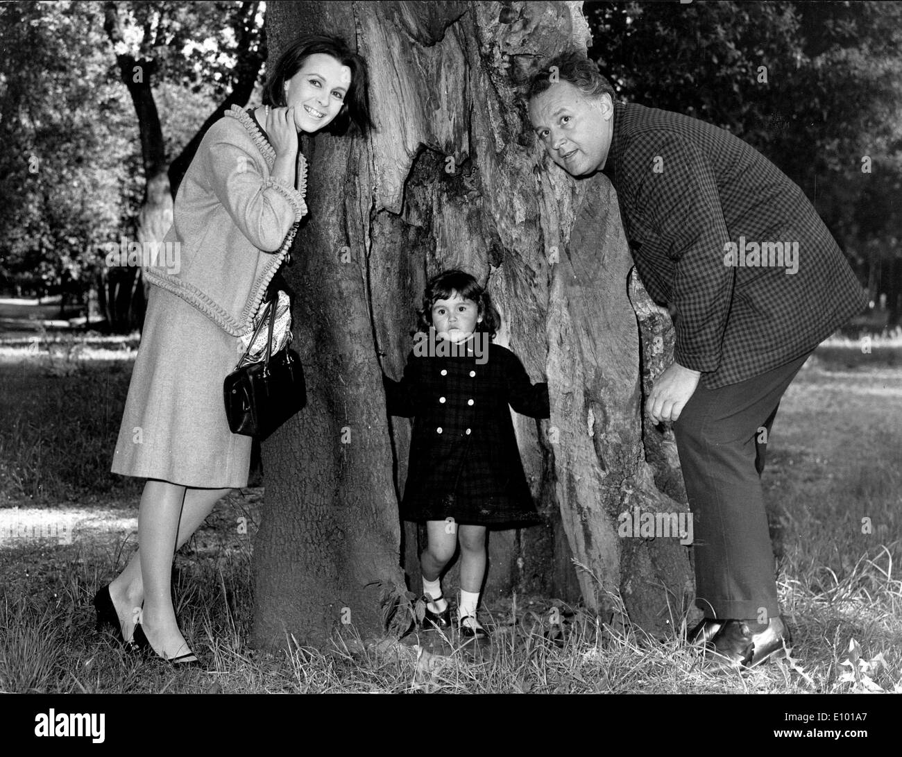 Claire Bloom, Rod Steiger and their daughter - Stock Image
