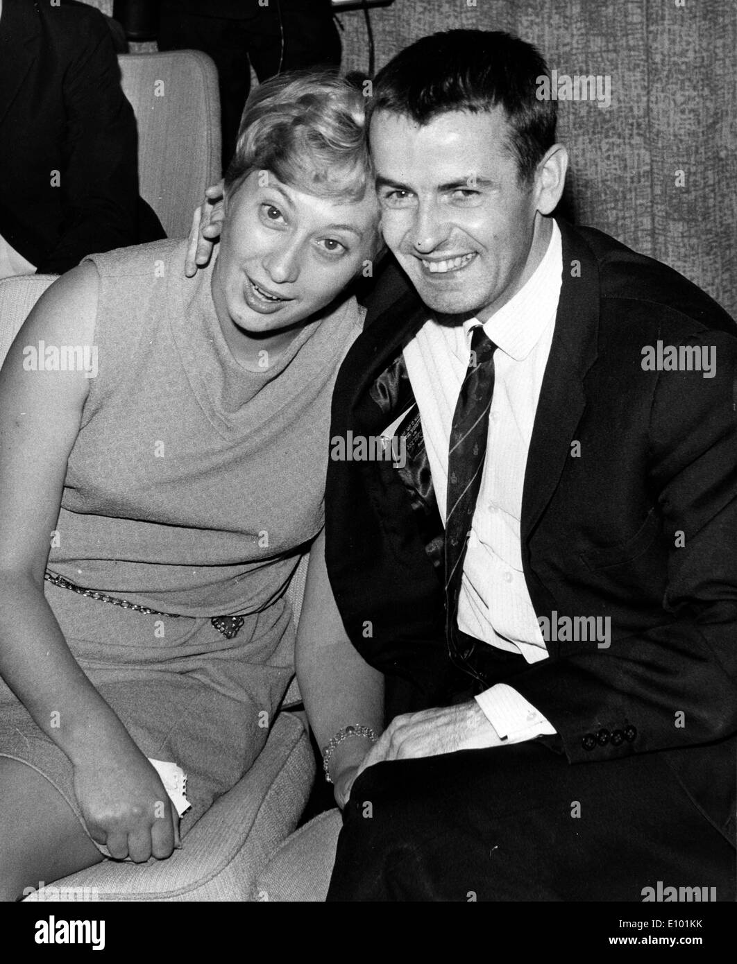 GERALD BROOKE and wife BARBARA hold hands - Stock Image