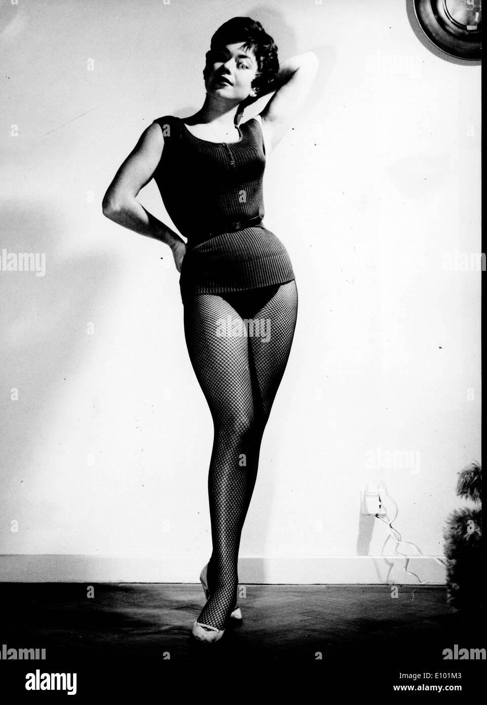 English Dancer actress GILLIAN VAUGHAN poses in a studio - Stock Image