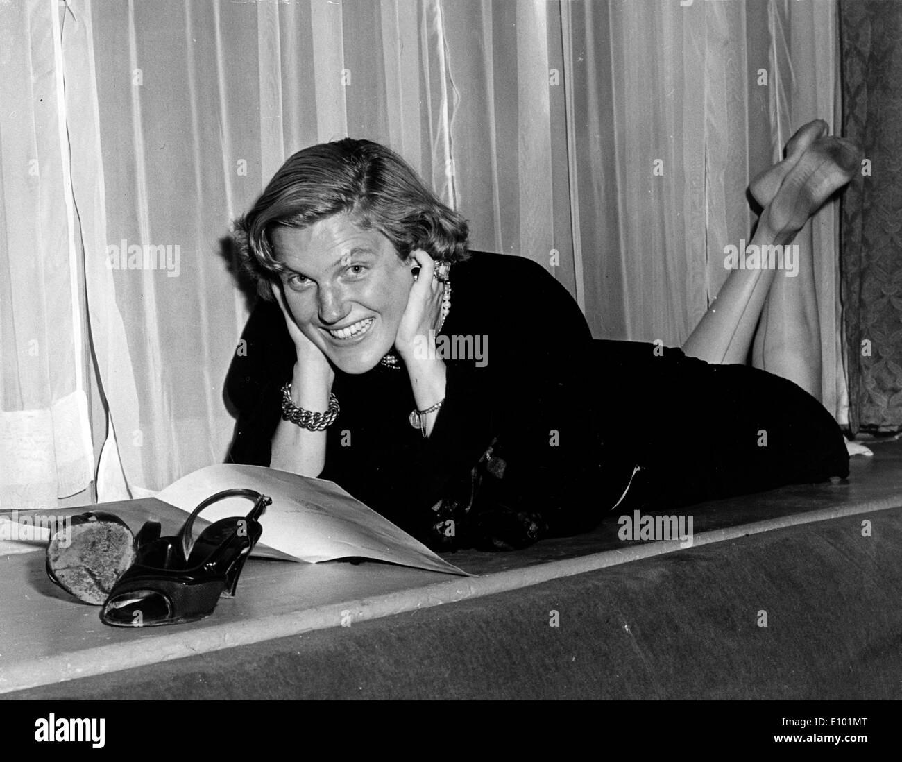 INGE BORKH is a German soprano singer born May 26, 1917. - Stock Image