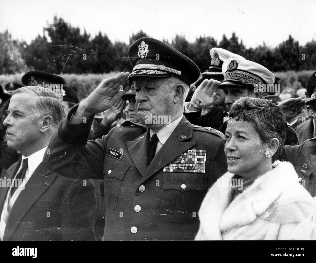 OMAR BRADLEY General of the Army, one of the main U.S. Army field commanders in North Africa and Europe during World War II - Stock Image