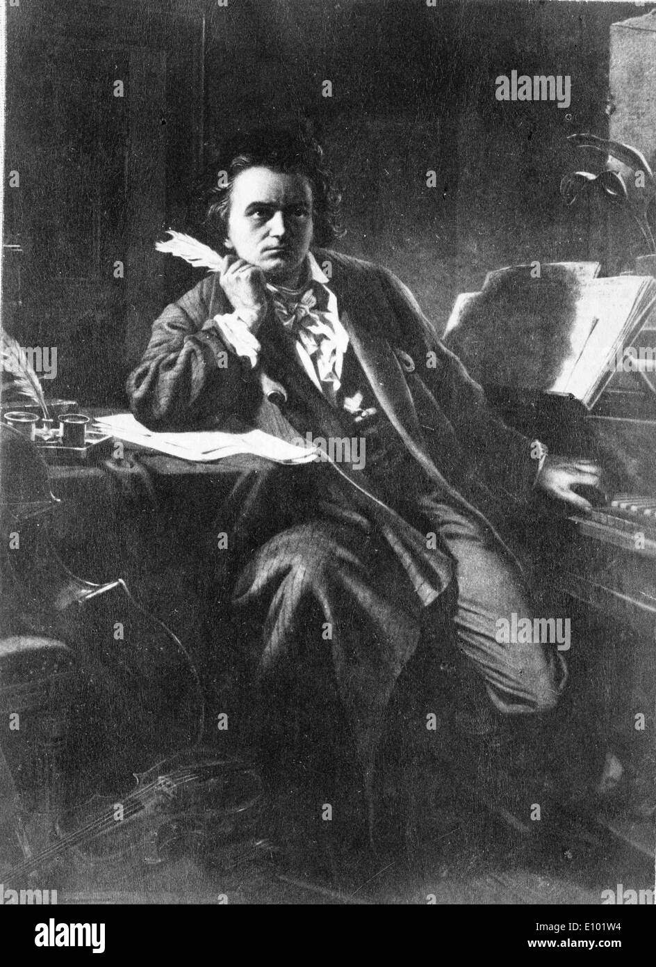 LUDWIG VAN BEETHOVEN was a German composer and pianist. - Stock Image