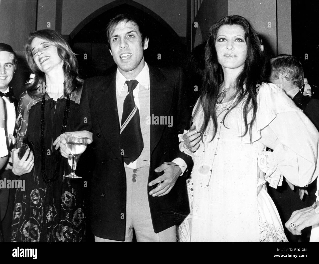 Italian singers ADRIANO CELENTANO and wife CLAUDIA MORI - Stock Image